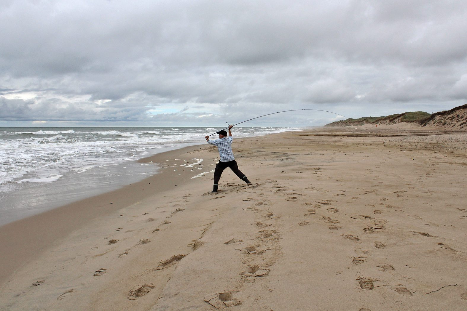 Angeln vom Strand an der Nordsee