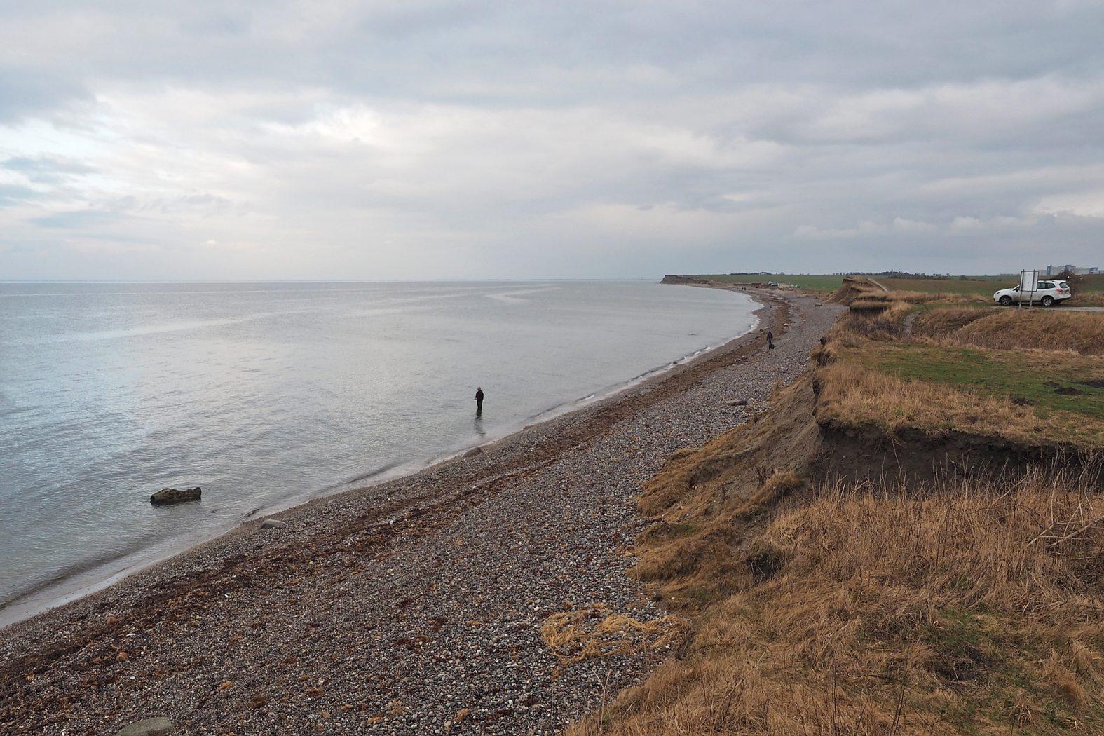 Angeln an der Ostsee vom Strand auf Dorsch