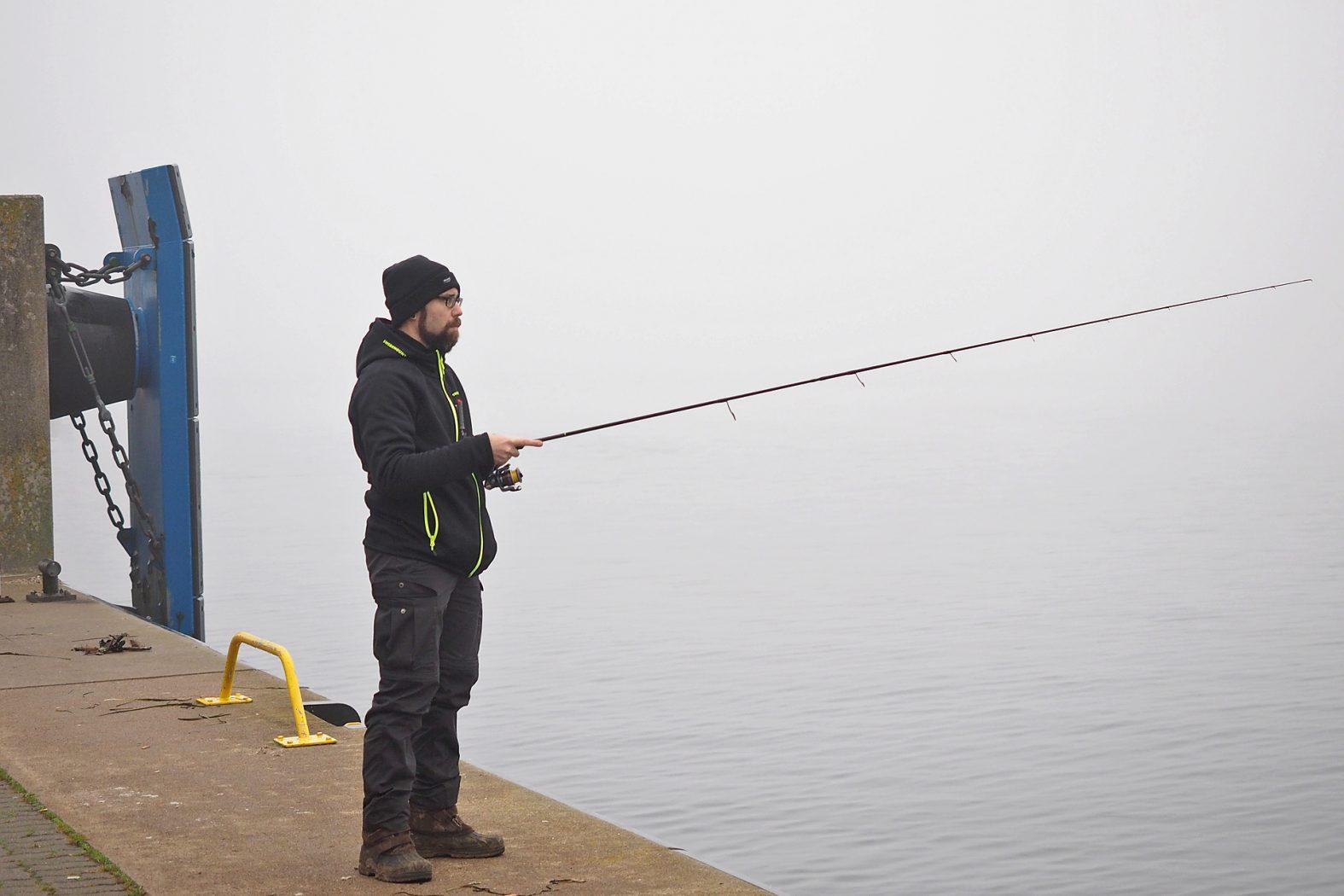 Dorsch angeln im Hafen von Kiel