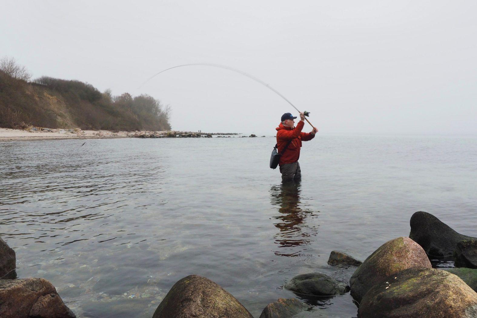 Dorsch vom Ufer angeln am Strand