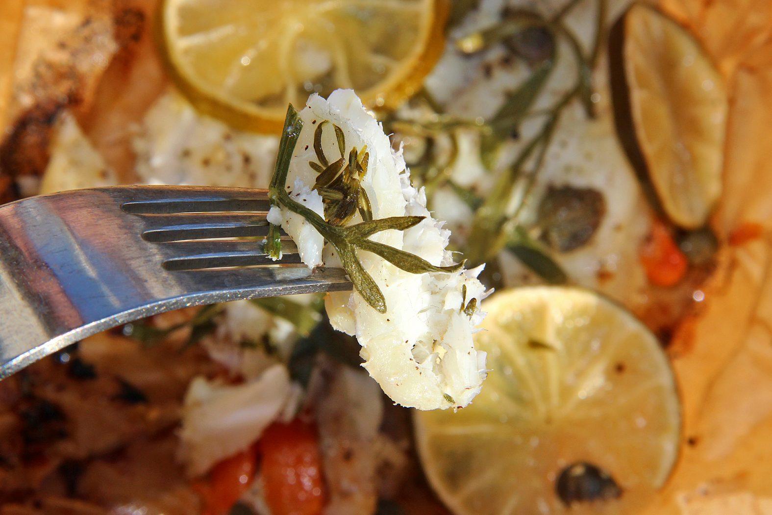 Lecker: Dorade mit Meerfenchel aus dem Pergament