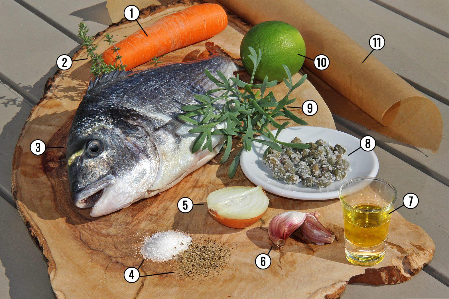 Das Rezept für Dorade mit Meerfenchel und Kapern