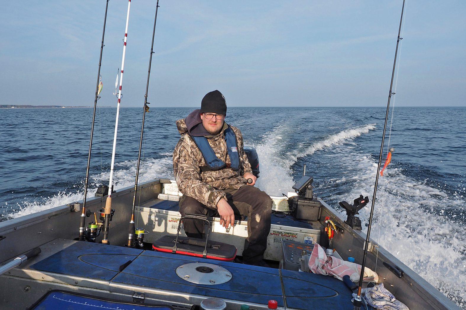 Auf der Ostsee angeln vom Boot