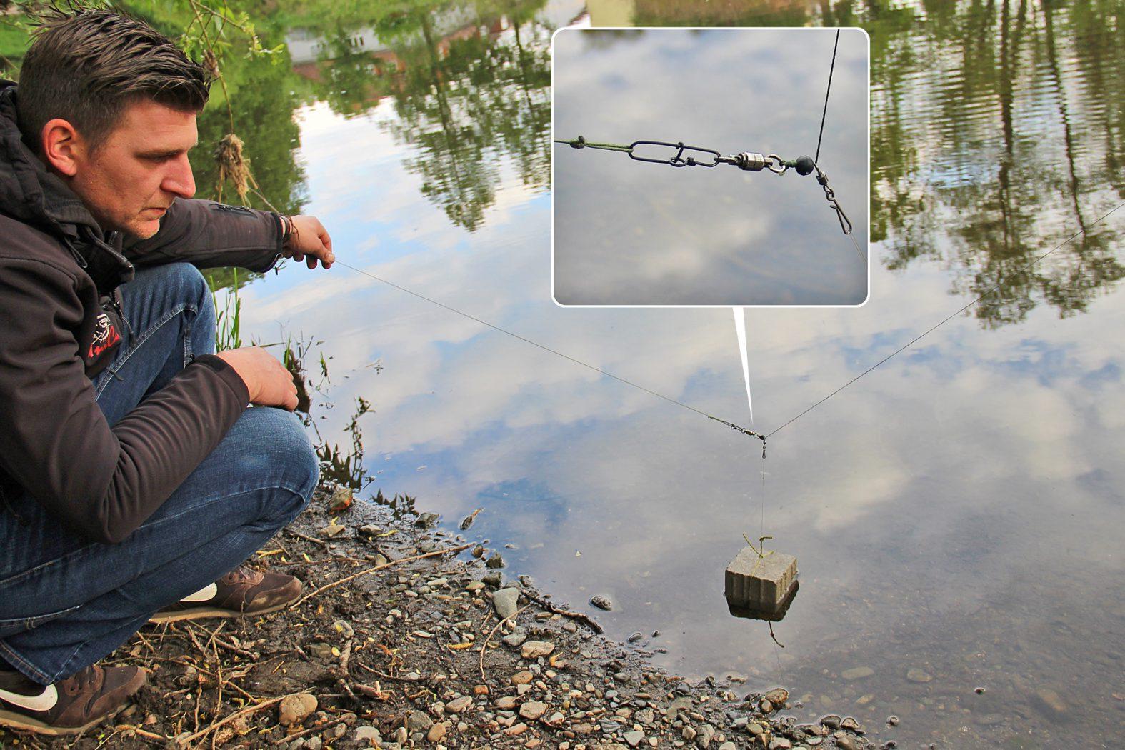 Mit U-Pose und Abrissmontage: Welsmontage für den Fluss