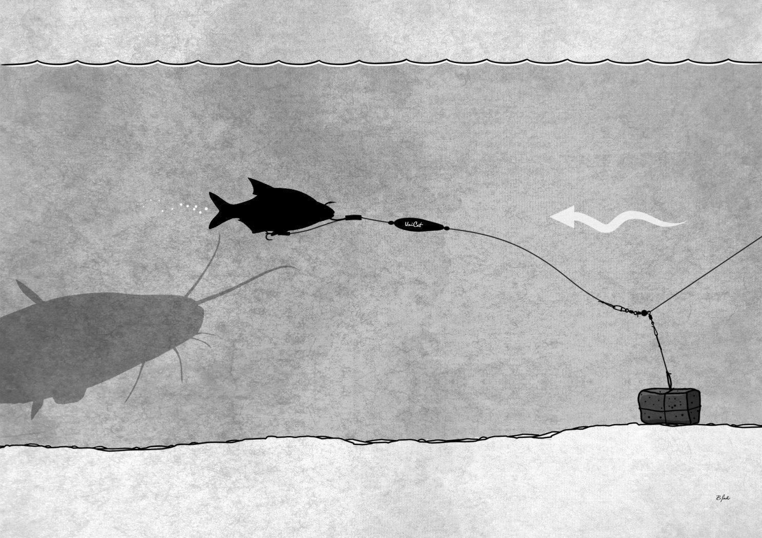 Montage einer Unterwasserpose zum Wallerangeln