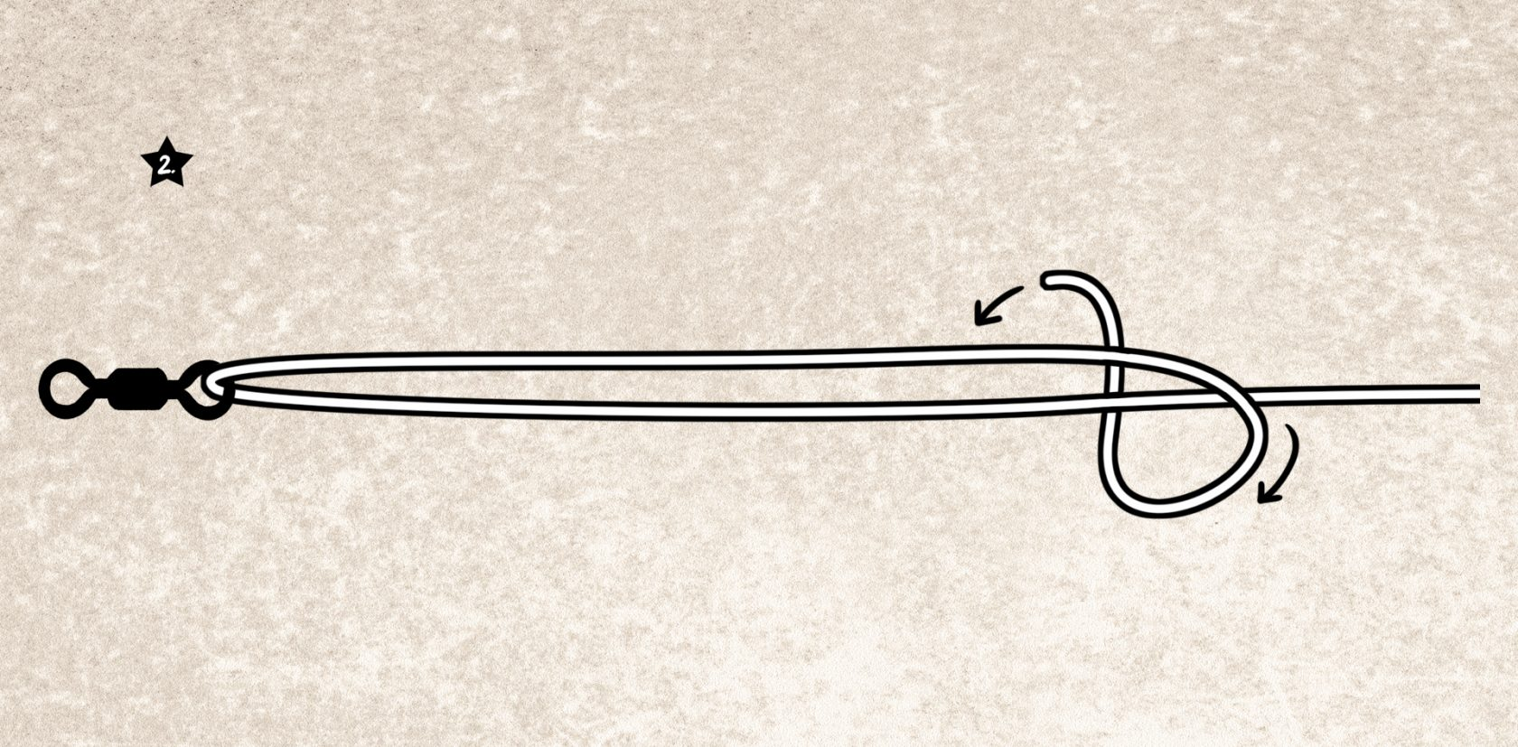 Einer der besten Angelknoten: Reverse Clinch-Knoten