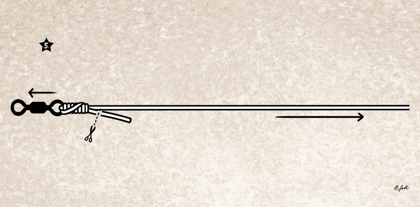 Der Angelknoten für Mono und Geflochtene: der San Diego Jam-Knoten