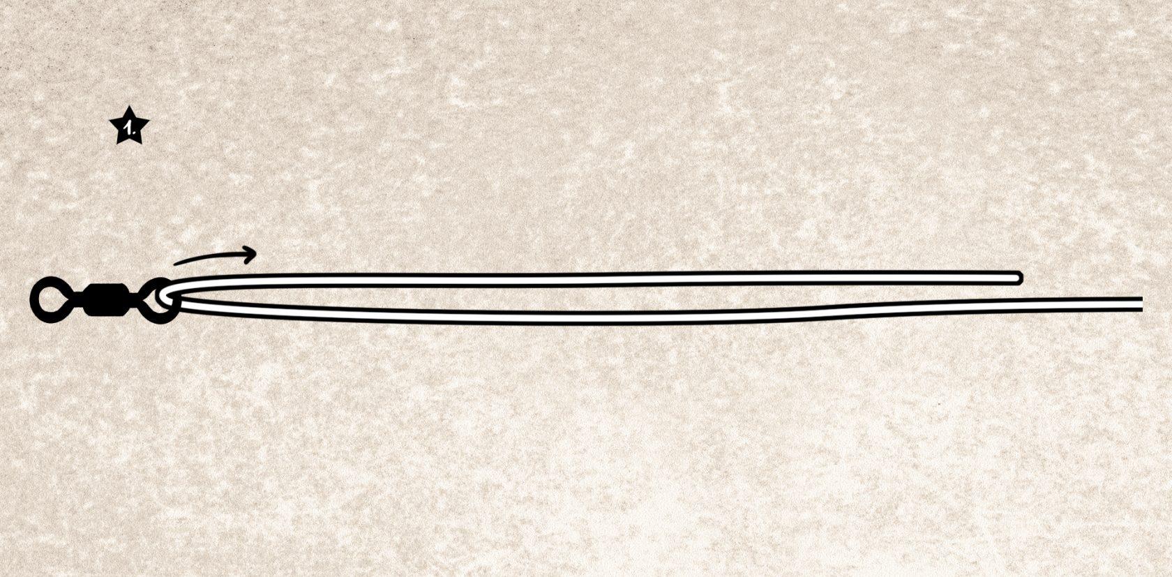 Wirbel anknoten mit dem San Diego Jam-Knoten