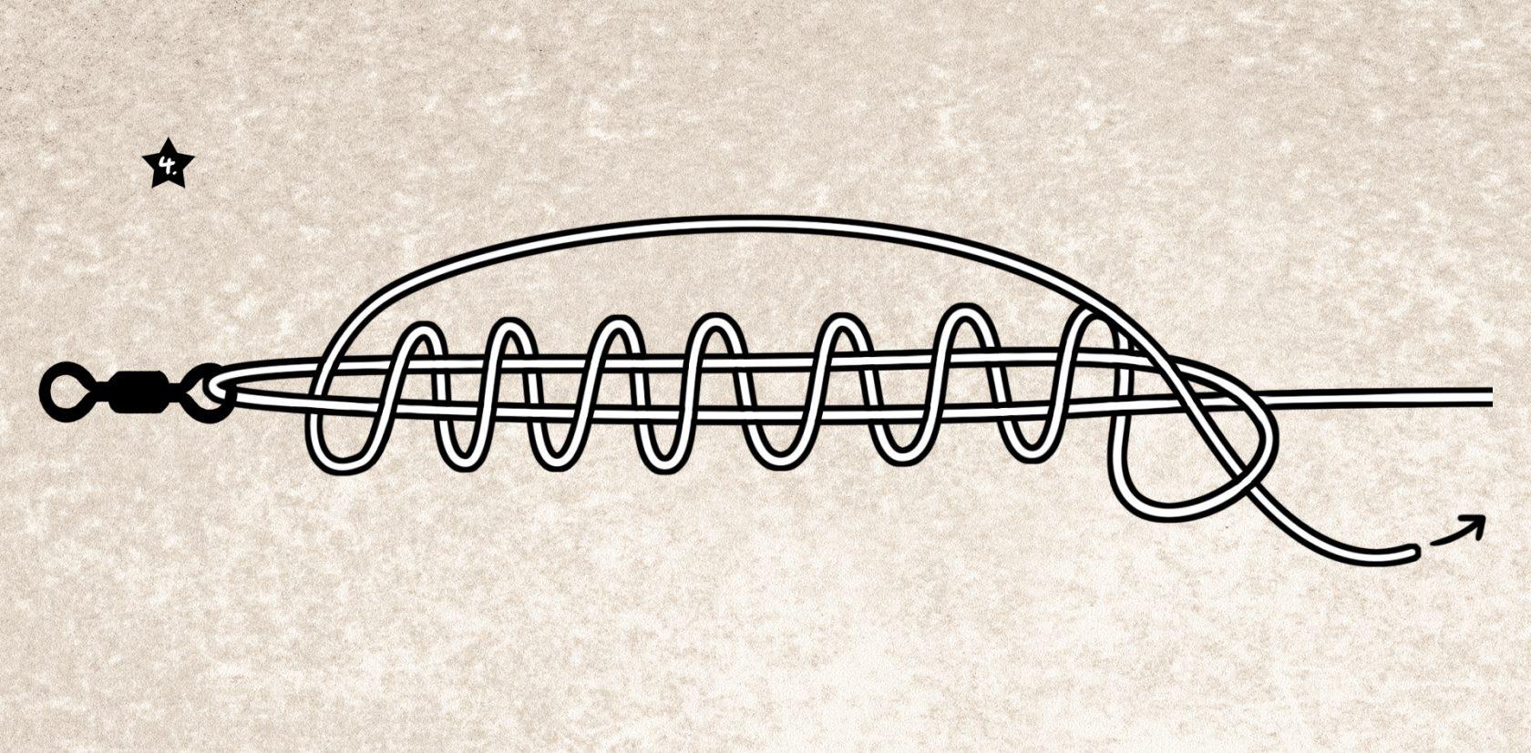 Einfacher Angelknoten für geflochtene und monofle Angelschnur: der San Diego Jam-Knoten
