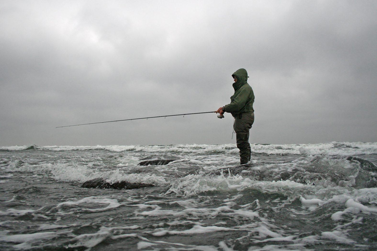 angeln mit sbirolino im winter