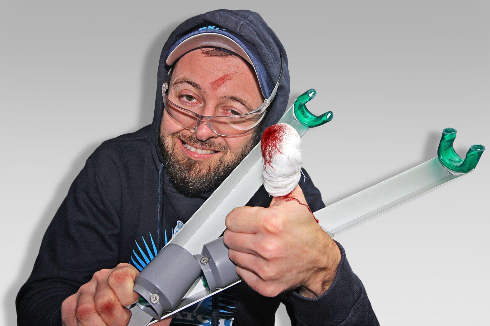 Der selbstgebaute Rutenhalter aus Aluminium