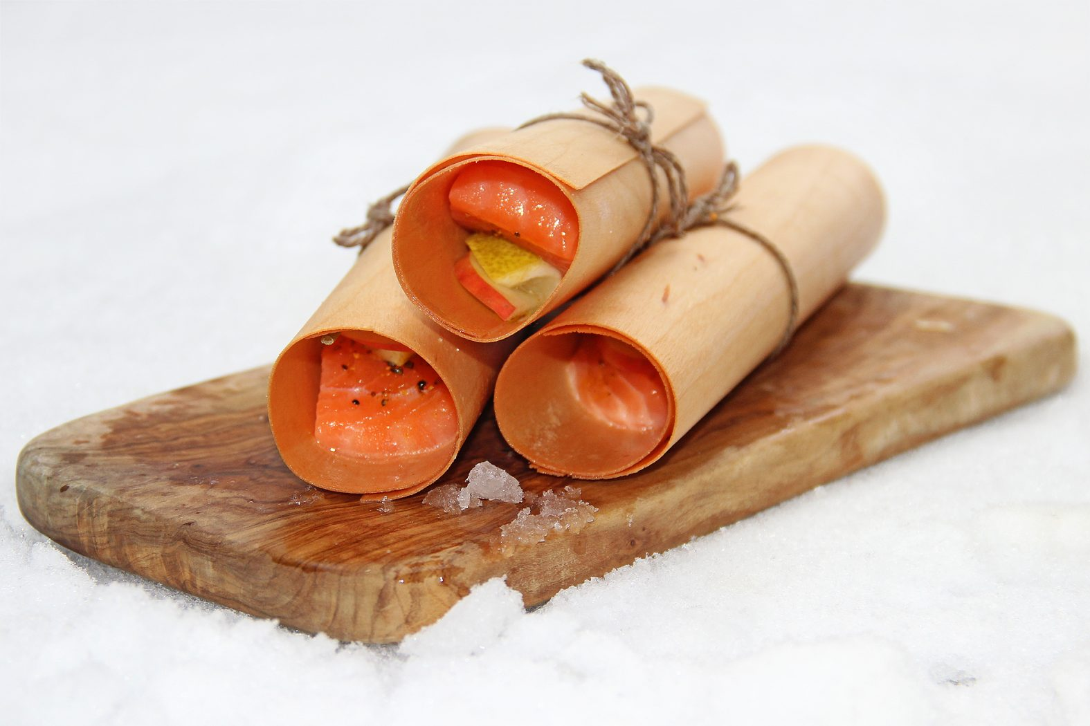 Grillen im Winter mit Lachs in Erlenholz Wood Wraps