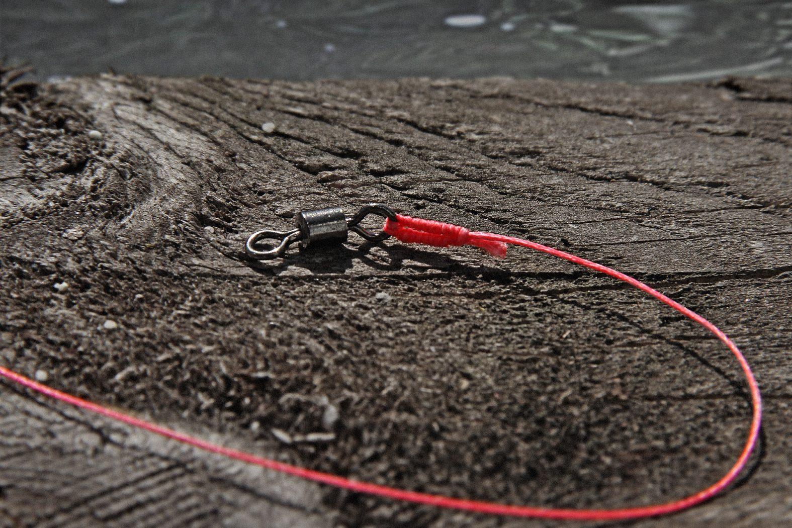 Offshore-Swivel-Knot: geflochtene Schnur knoten