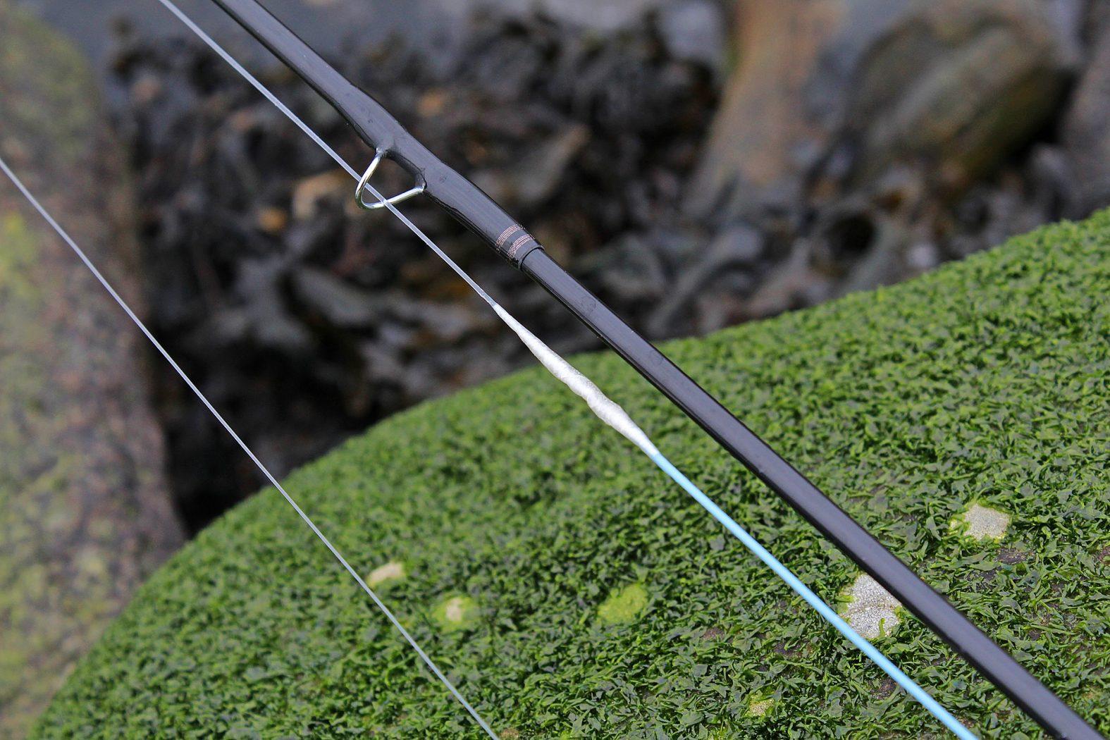 Fliegenfischen Vorfach anbringen