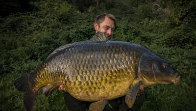 Robin Illner mit 26-Kilo-Karpfen