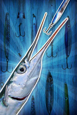 hornhecht angeln mit kunstköder
