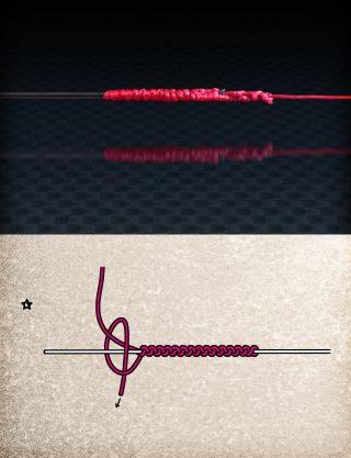 Angelschnur verbinden mit dem FG Knoten