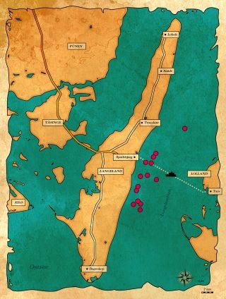 GPS-Daten für Angeln vor Langeland