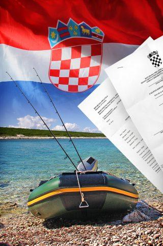 Bootsangeln am Mittelmeer in Kroatien