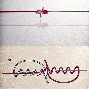 Angelknoten Schnur verbinden