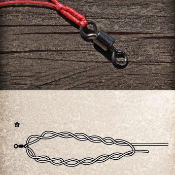 Offshore-Swivel-Knot: Angelknoten für geflochtene Schnur