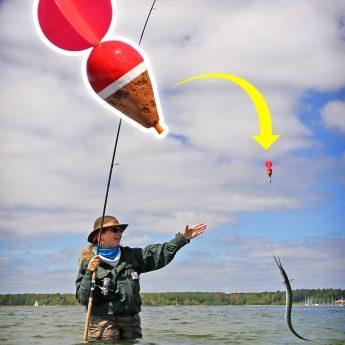 Hornhecht angeln mit Segelpose